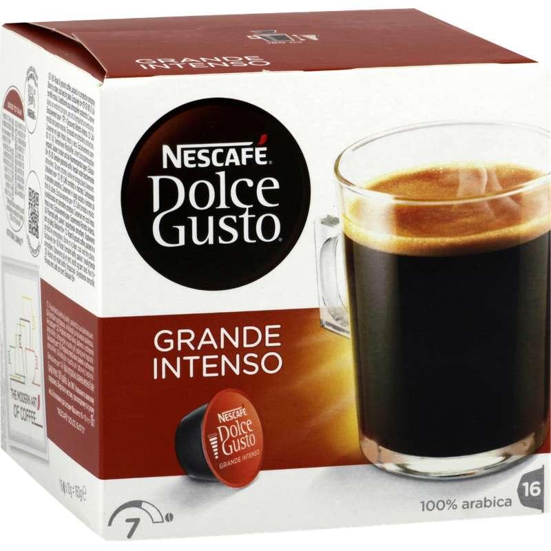 Café capsules Grande Intenso, Dolce Gusto (x 16)