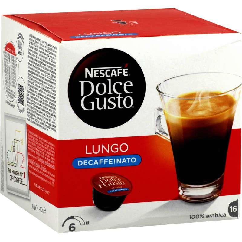 Café capsule Lungo Decaffeinato , Dolce Gusto (x 16)