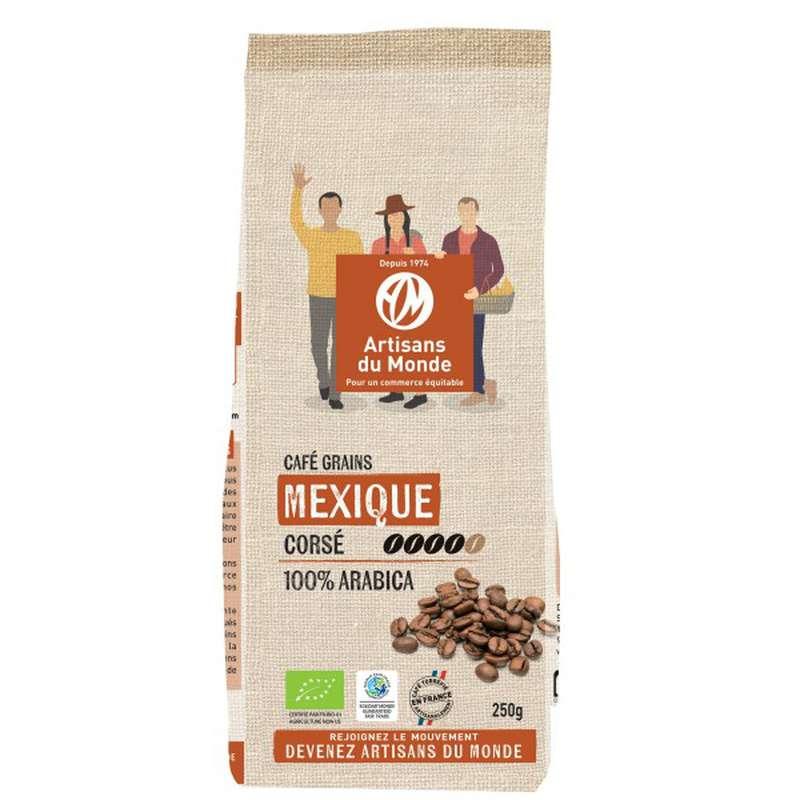 Café en grain Mexique BIO, Artisans du monde (250 g)