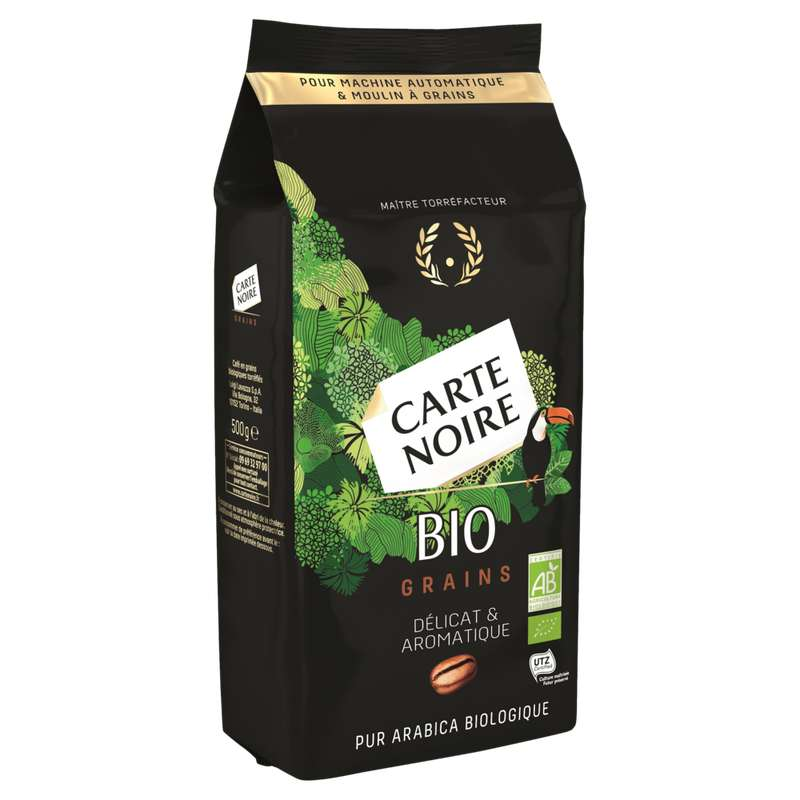 Café en grain BIO, Carte Noire (500 g)