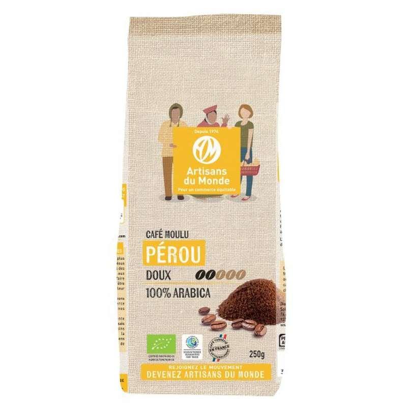 Café moulu Pérou BIO, Artisans du monde (250 g)