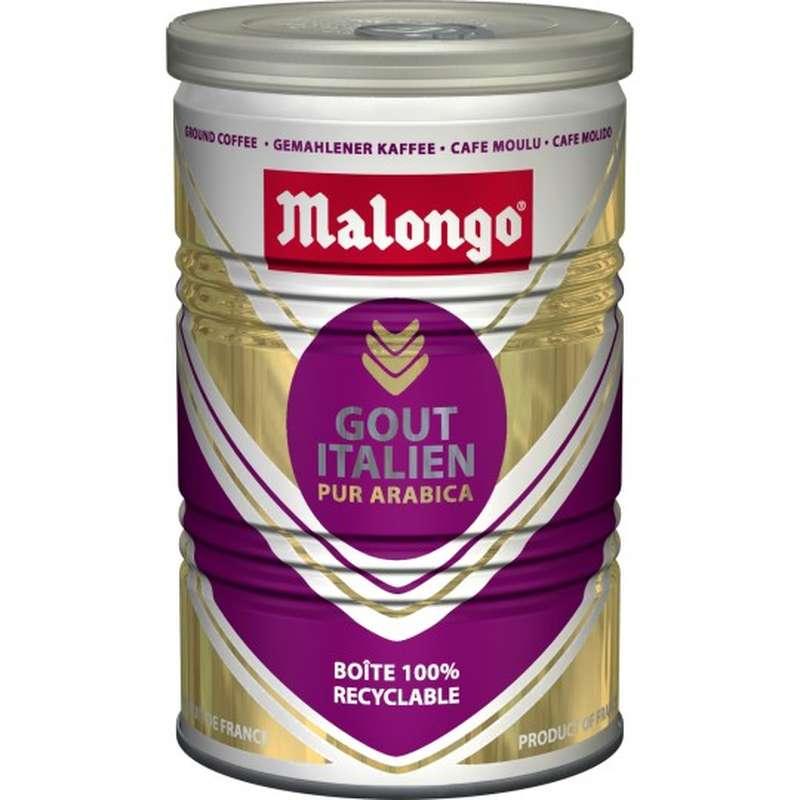 Café moulu pur arabica goût italien, Malongo (250 g)