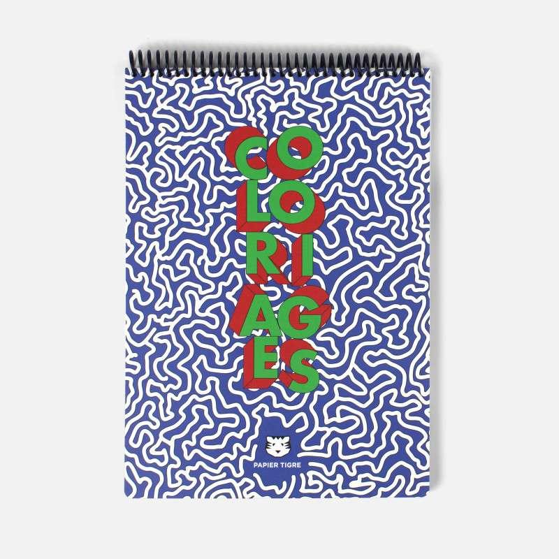 Cahier de coloriages A4, Papier Tigre