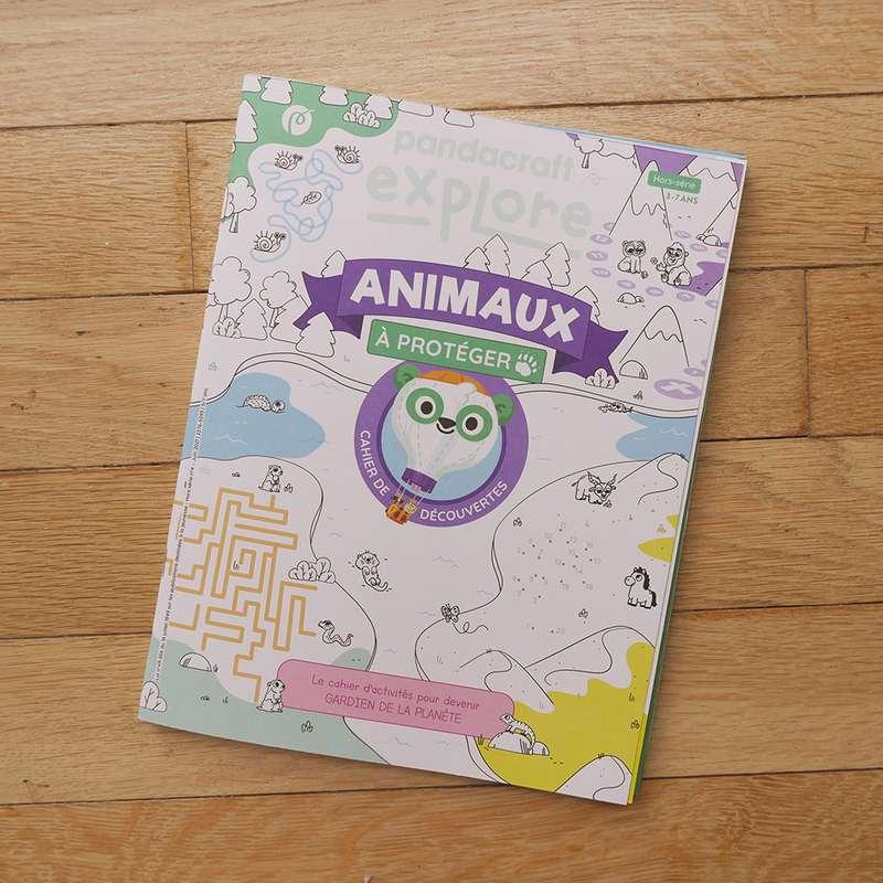 Cahier de découvertes Animaux à Protéger 3-7 ans, Pandacraft