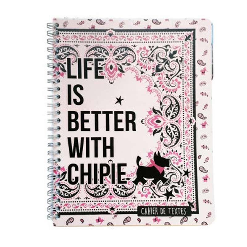 Cahier de textes à spirale Chipie, Magic Life (17 x 22 cm)