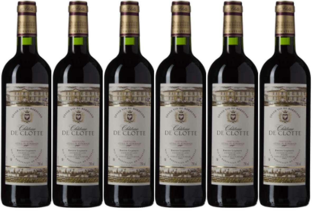 Caisse de Côtes de Bordeaux Chateau de Clotte 2018 (6 x 75 cl)
