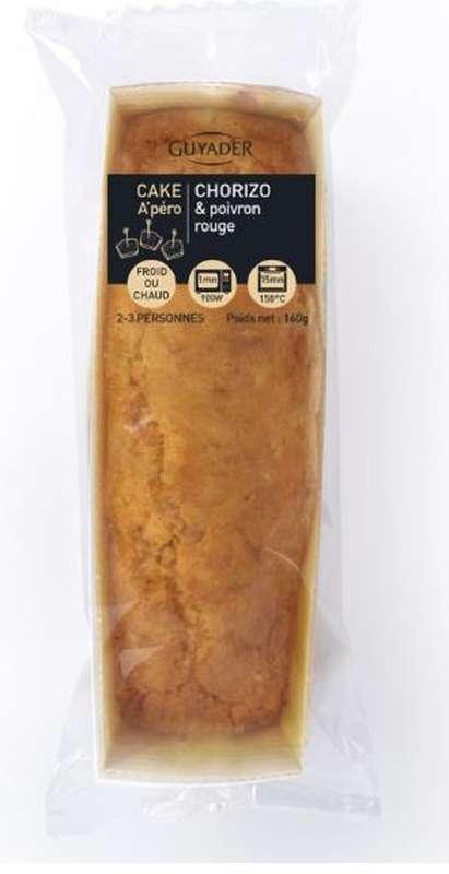 Cake au chorizo et au poivron rouge, Guyader (160 g)