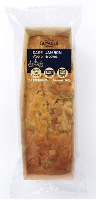 Cake au jambon Label rouge et aux olives, Guyader (160 g)