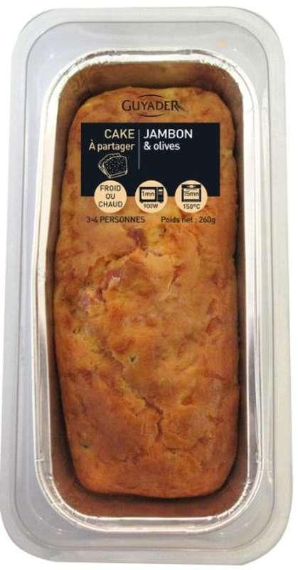Cake au jambon Label rouge et aux olives, Guyader (260 g)