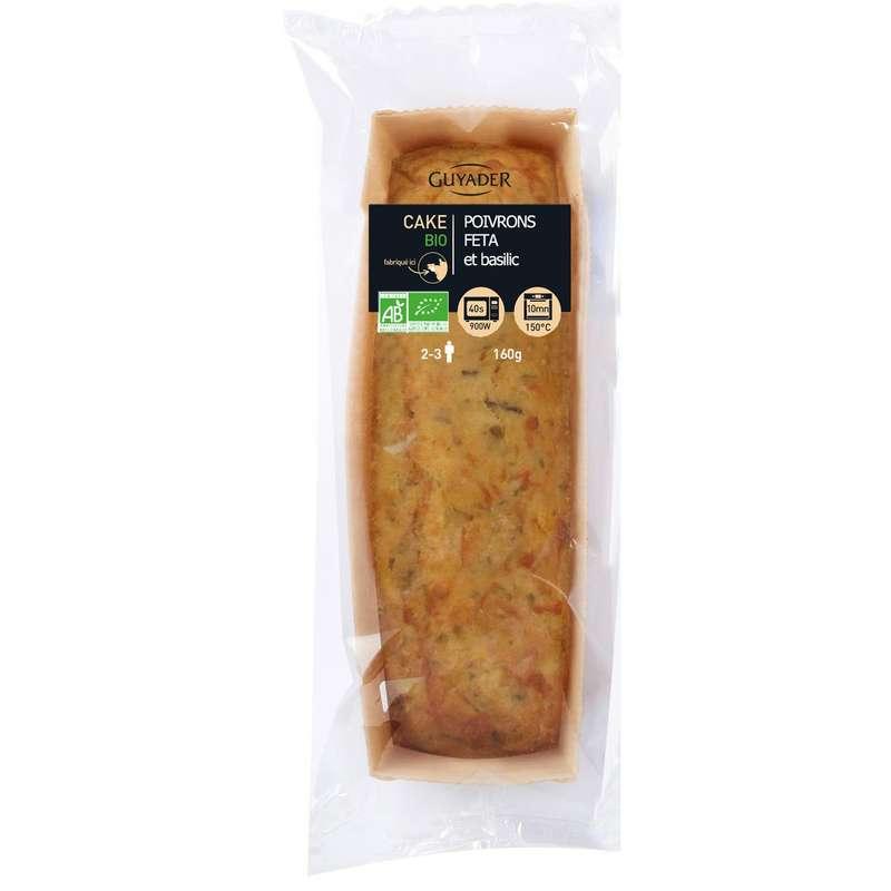 Cake BIO aux poivrons feta basilic, Guyader (160 g)