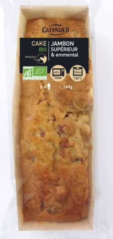 Cake BIO au jambon supérieur et à l'emmental, Guyader (160 g)