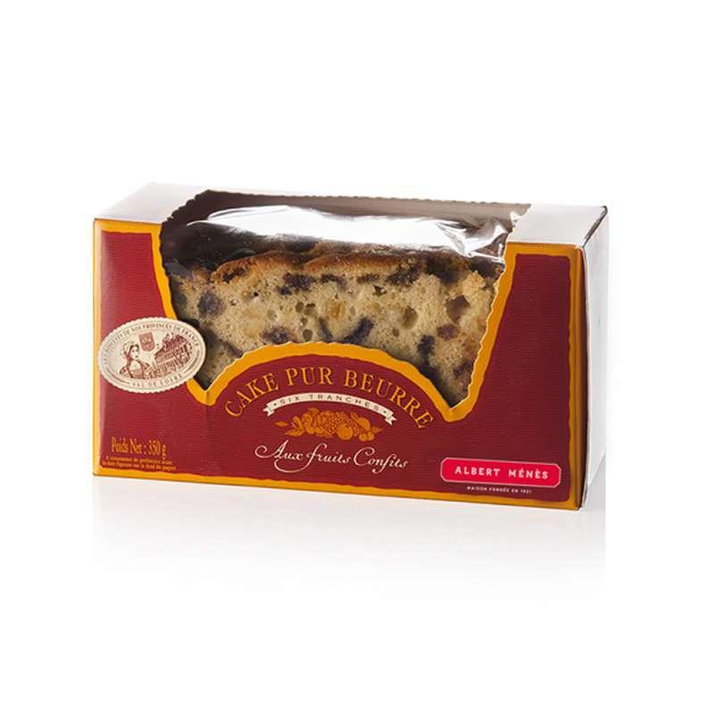 Cake tranché pur beurre aux fruits confits, Albert Ménès (350 g)