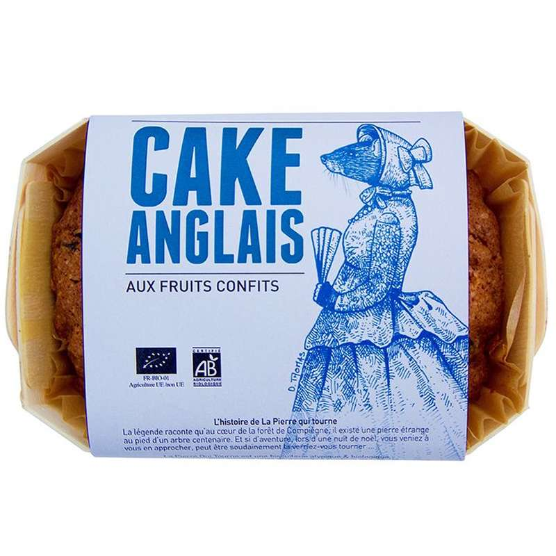 Cake Anglais BIO, La pierre qui tourne (320 g)