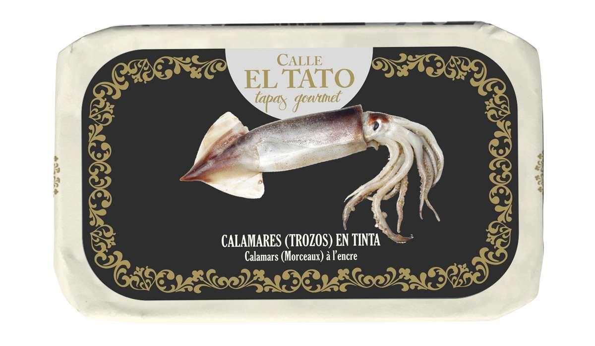 Calamars en morceaux à l'encre, Calle El Tato (72 g)