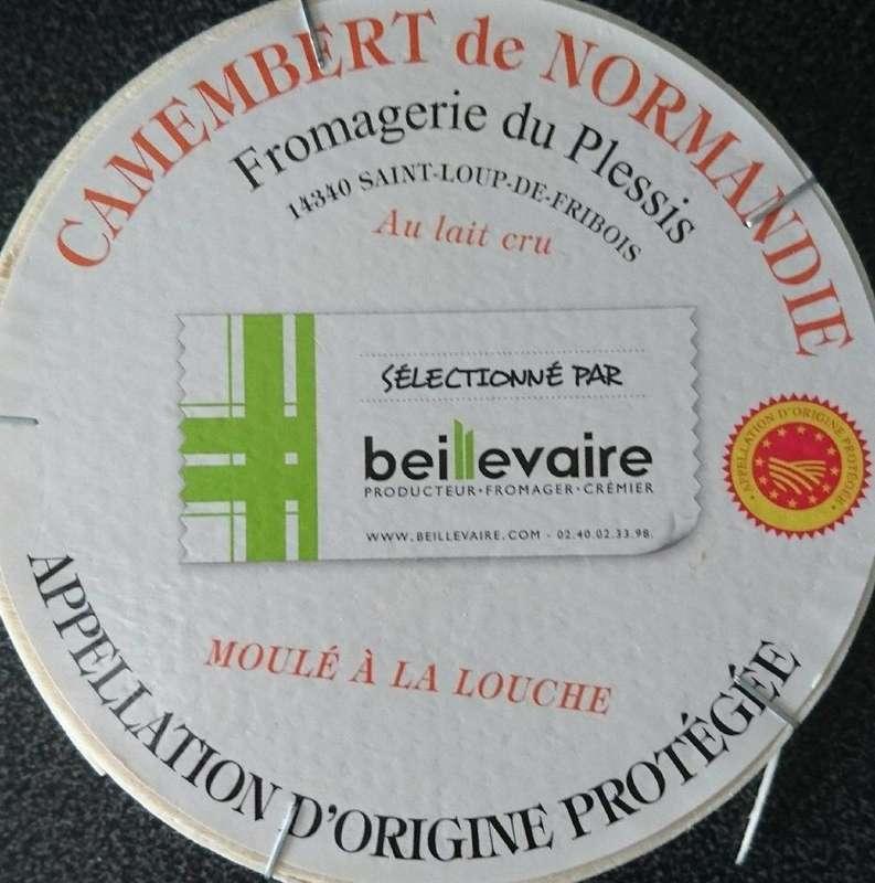 Camembert de Normandie de Plessis sélection, Beillevaire (pièce, environ 250 g)