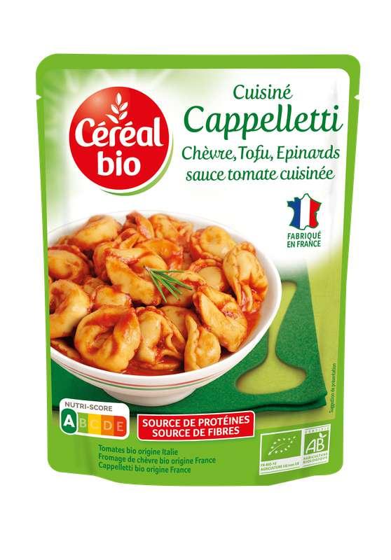 Cappelletti sauce tomate, chèvre, tofu et épinards BIO, Céréal Bio (220 g)