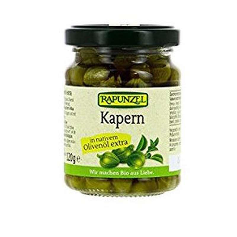 Câpres à l'huile d'olive BIO, Rapunzel (120 g)