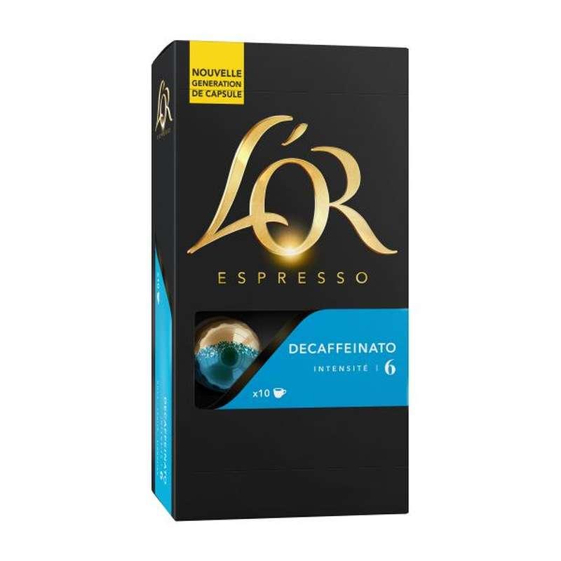 Café capsule Decafeinato, L'Or Espresso (x 10)