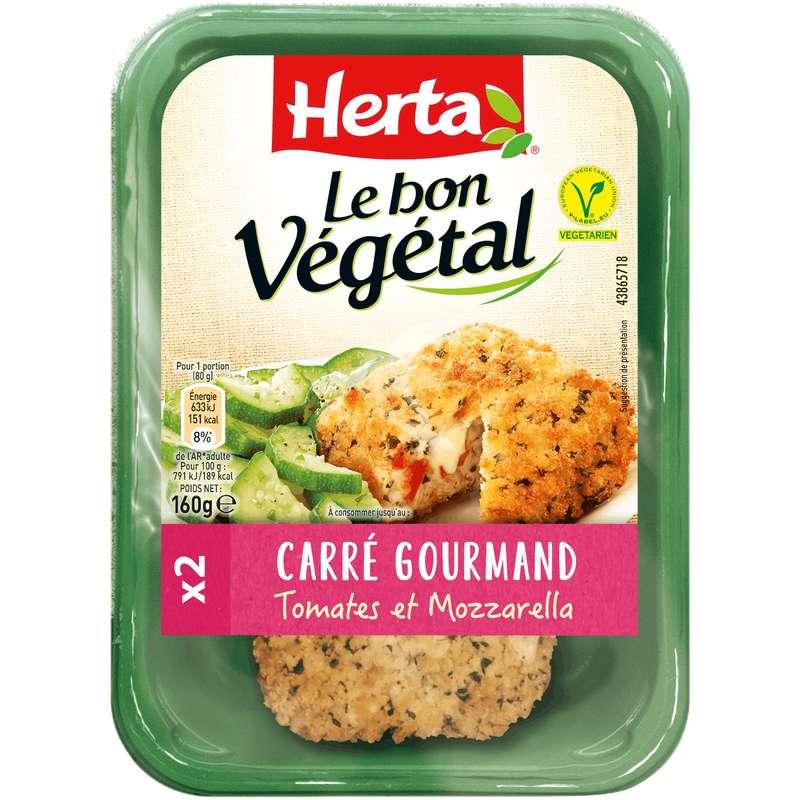 Carrés gourmands tomates mozzarella Le Bon Végétal, Herta (x 2, 160 g)