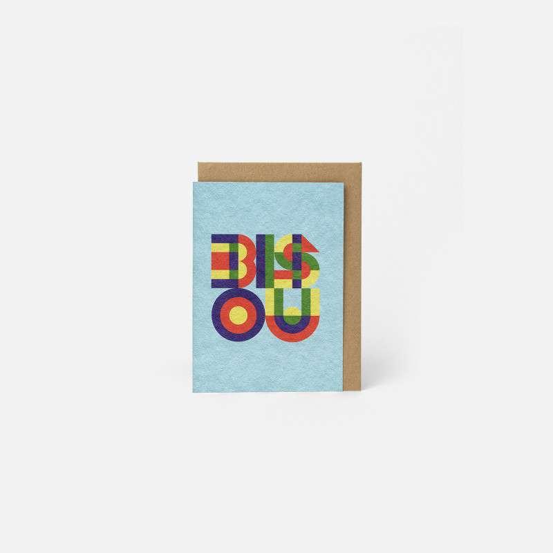 Carte A6 Bisou Mint, Papier Tigre