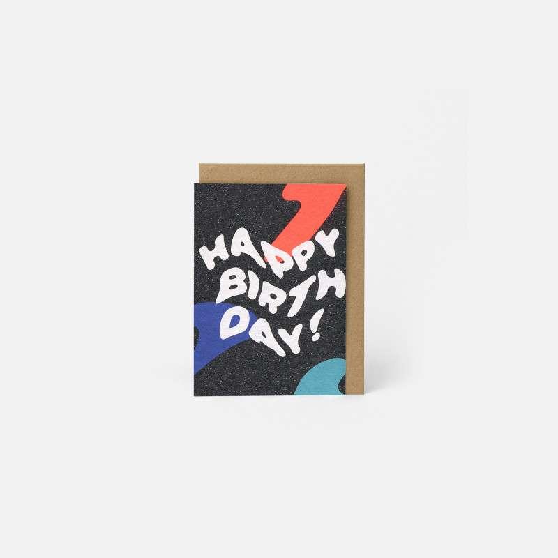 Carte Happy Birthday, Papier Tigre