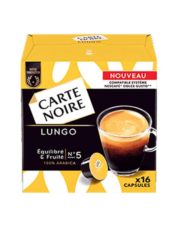 Café capsules Café Lungo, Carte Noire / compatible dolce gusto (x 16)
