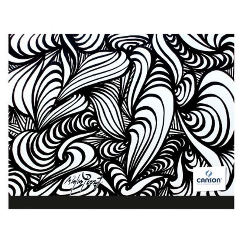 Carton à dessin Edition Artiste noir & blanc, Canson (26 x 33 cm)
