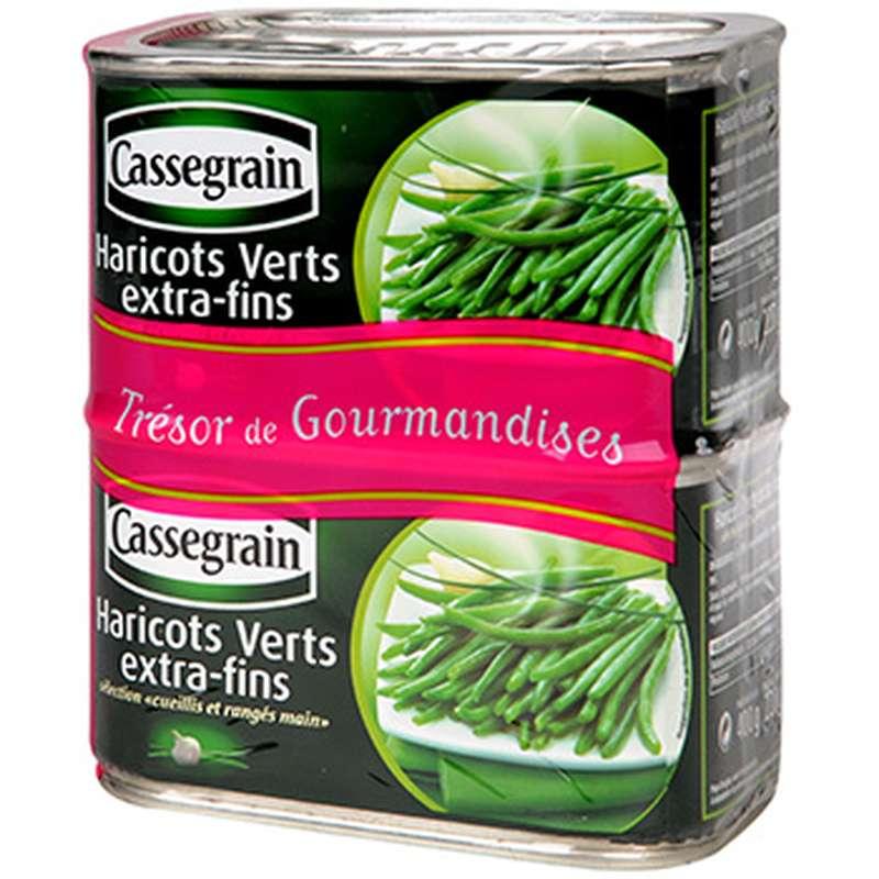 Haricots Verts Extra Fin, Cassegrain LOT DE 2 (2 x 400 g)