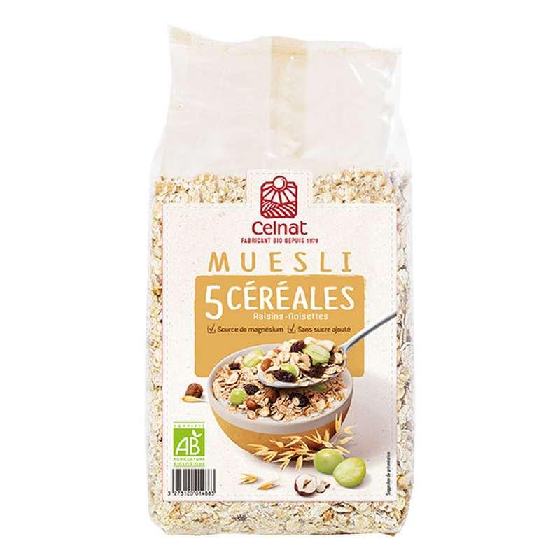 Muesli 5 céréales BIO, Celnat (500 g)