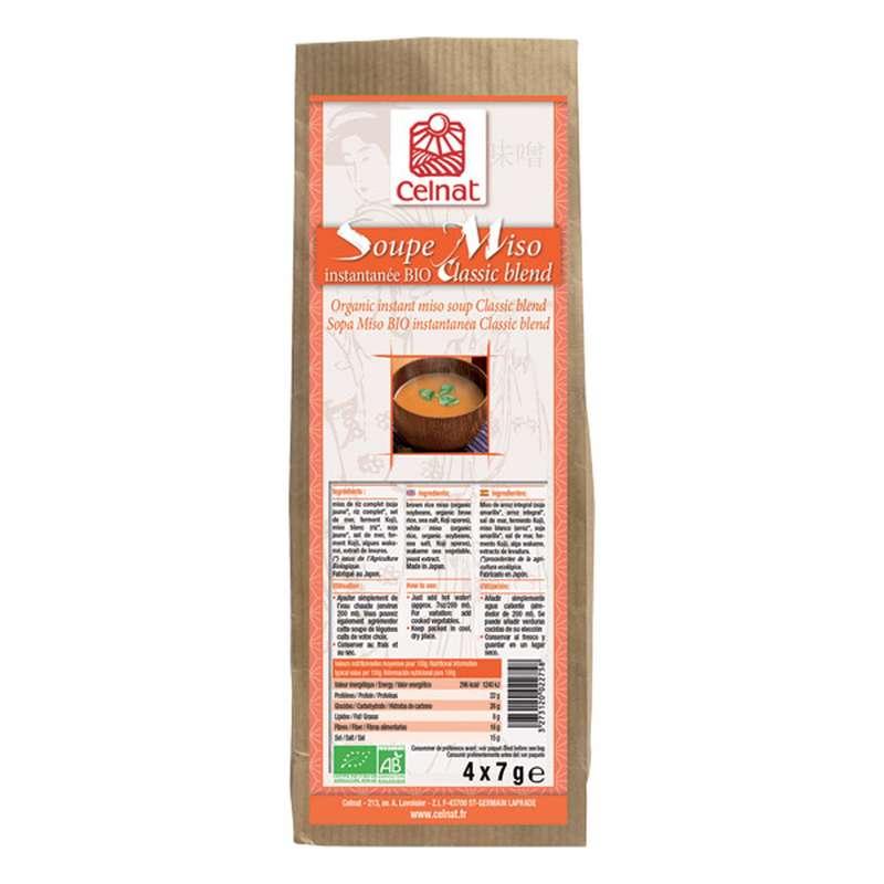 Soupe miso instantanée classic blend BIO, Celnat (4 x 7 g, 28 g)