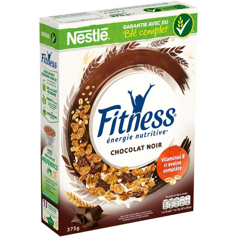 Céréales Fitness au chocolat noir, Nestlé (375 g)