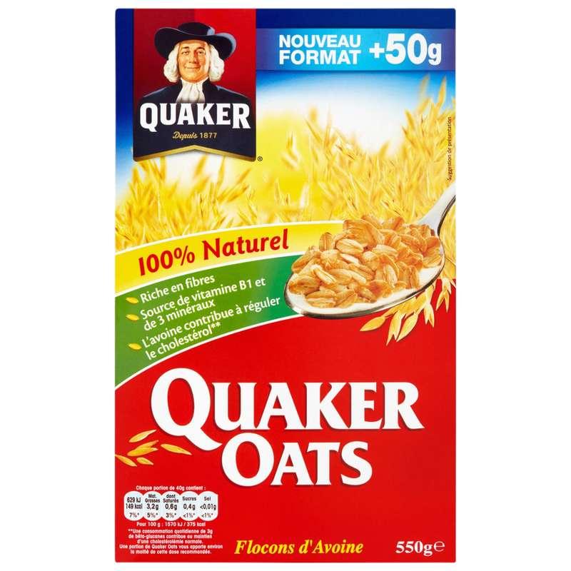 Céréales aux flocons d'avoine, Quaker (550 g)
