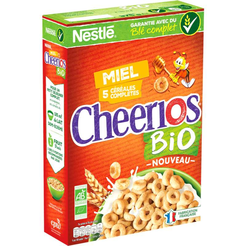 Céréales Cheerios BIO, Nestlé (375 g)