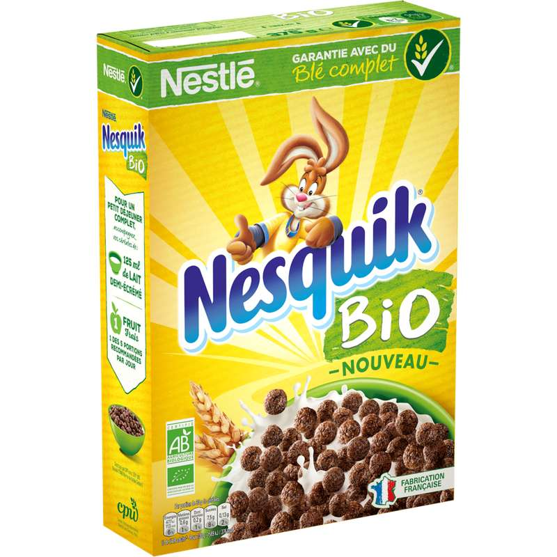 Céréales Nesquik BIO, Nestlé (375 g)