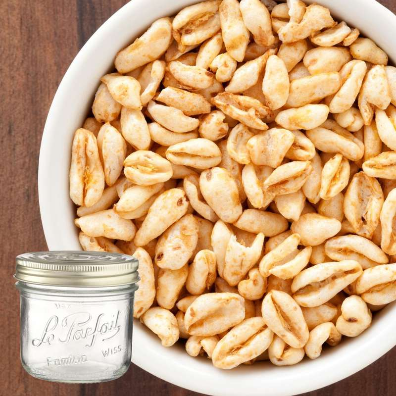 Céréales de blés soufflés au miel BIO bocal consigné / 2,5€ récupérable (200 g)