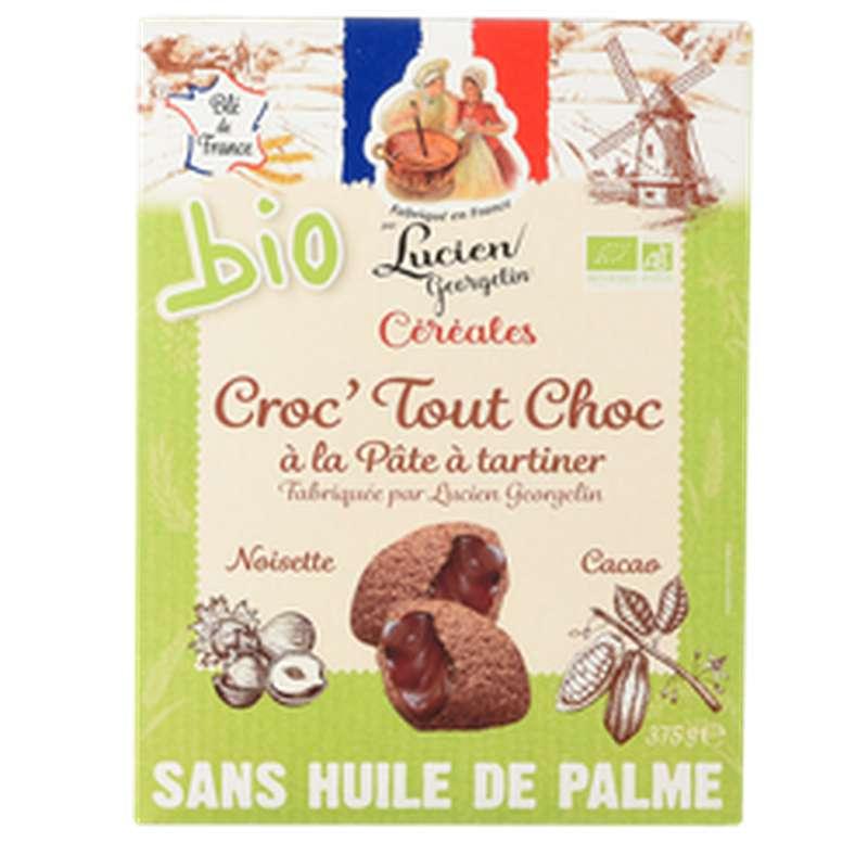 Céréales croc'choc à la pâte à tartiner coussin choco BIO, Lucien Georgelin (375 g)