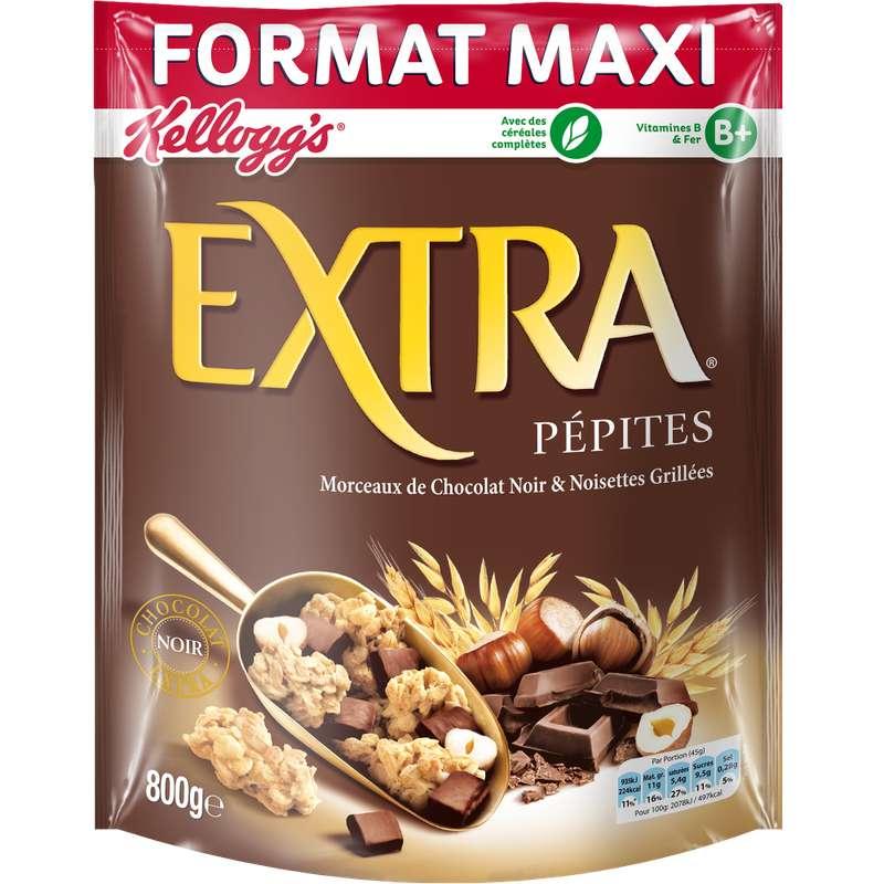 Extra pépites chocolat & noisettes, Kellogg's (800 g)