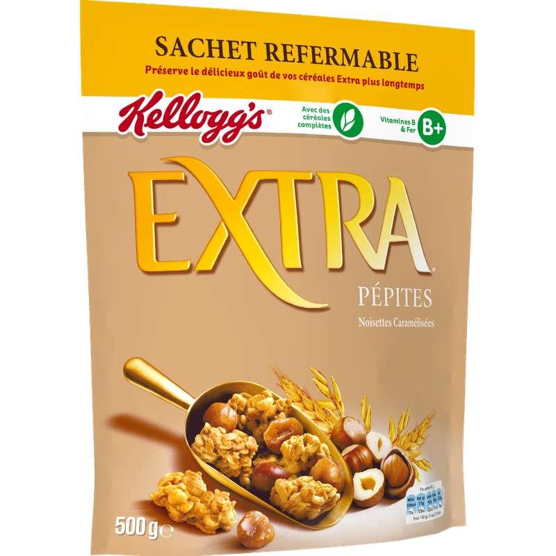Extra pépites noisettes caramelisées, Kellogg's (500 g)