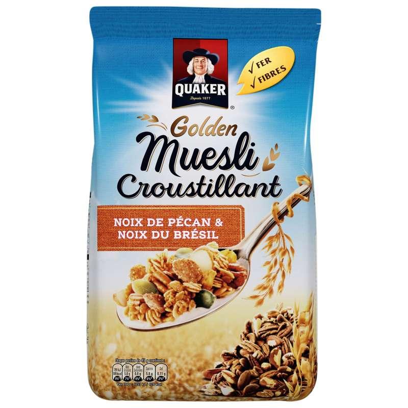 Céréales golden muesli noix de pécan-noix du Brésil, Quaker (500 g)