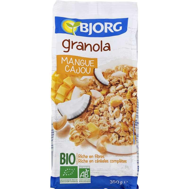 Céréales granola à la mangue et cajou BIO, Bjorg (350 g)