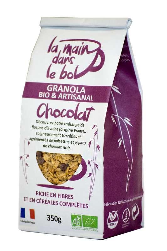 Céréales granola chocolat BIO, La Main dans le Bol (350 g)
