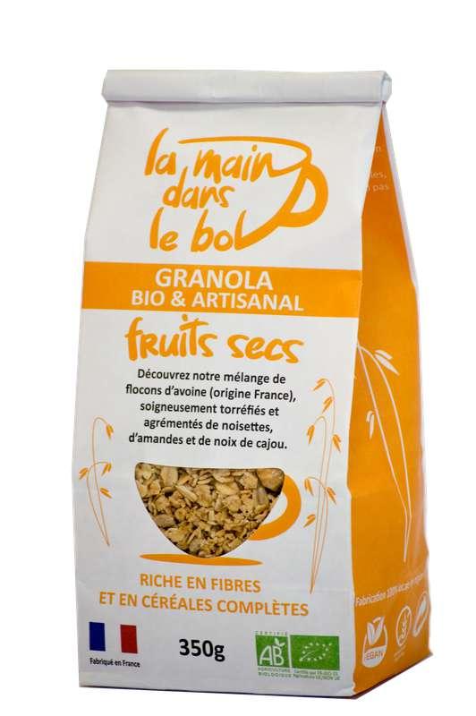 Céréales granola fruits secs BIO, La Main dans le Bol (350 g)