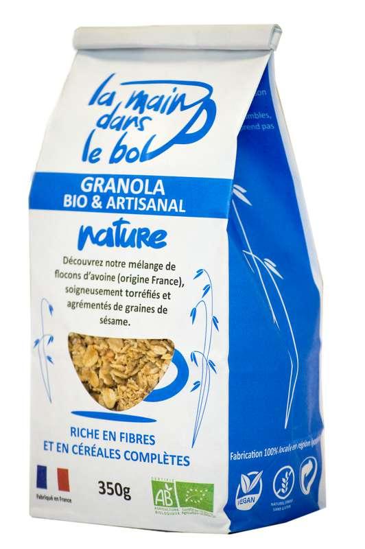 Céréales granola nature BIO, La Main dans le Bol (350 g)
