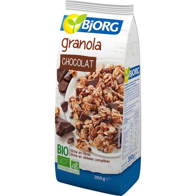 Céréales mélange de flocons d'avoine au cacao BIO, Bjorg (350 g)