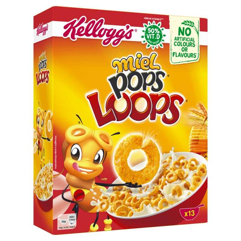 Céréales Miel Pops Loops, Kellogg's (400 g)