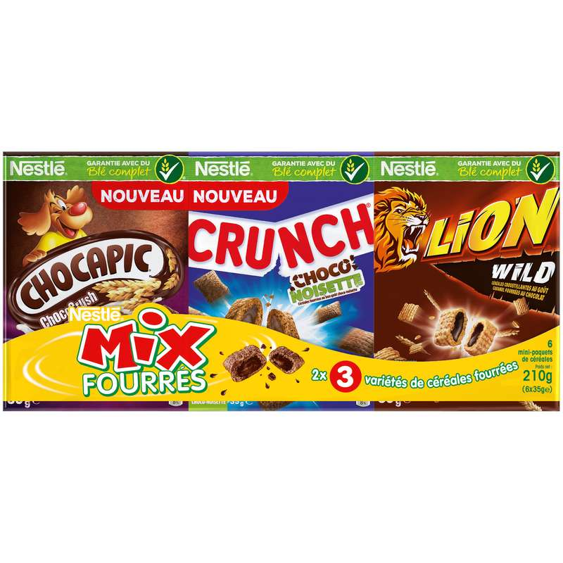 Céréales mix fourrées, Nestlé (x 6, 210 g)