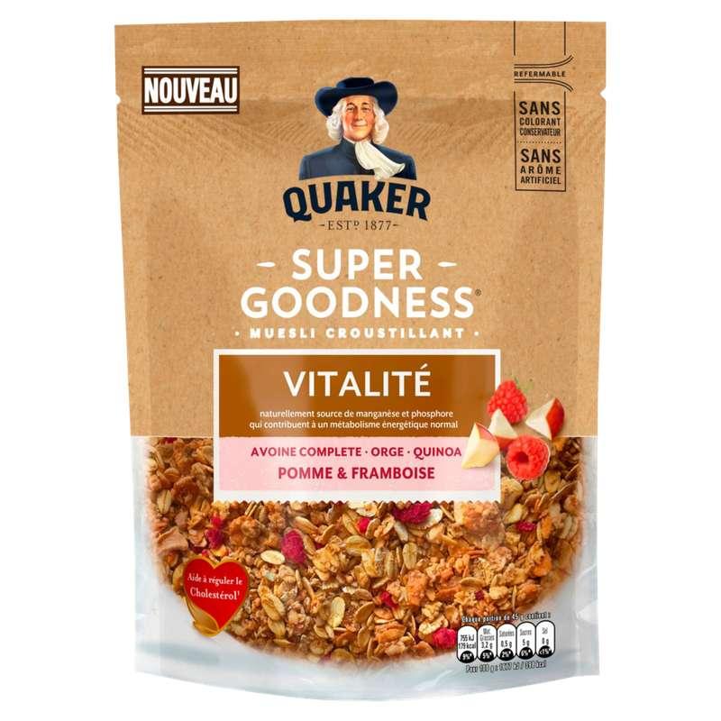 Céréales pommes framboises, Quaker (400 g)