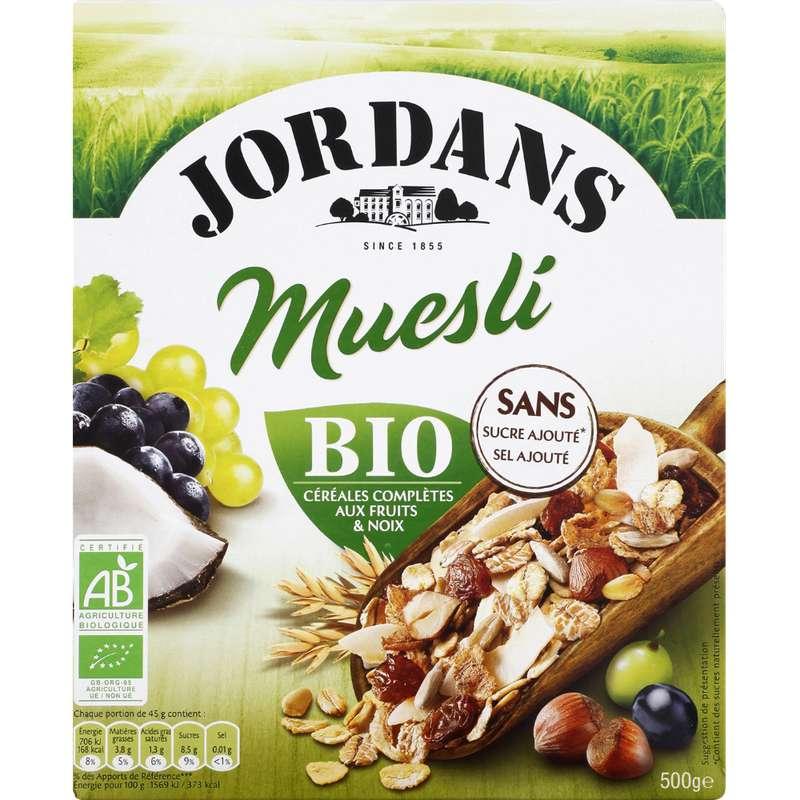 Muesli céréales complètes aux fruits et noix BIO, Jordan's (500 g)