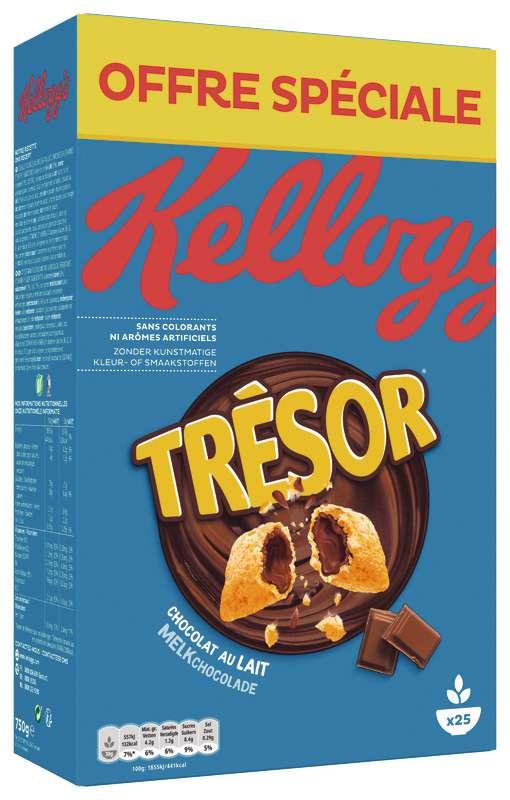 Céréales Trésor au chocolat au lait, Kellogg's OFFRE SPECIALE (750 g)