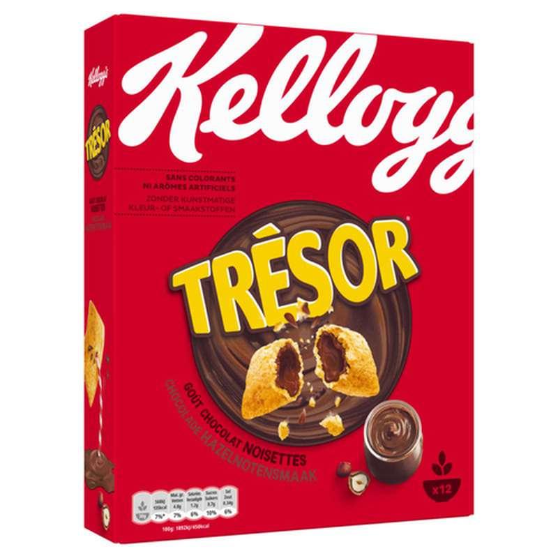 Céréales Trésor au chocolat noisette, Kellogg's (375 g)